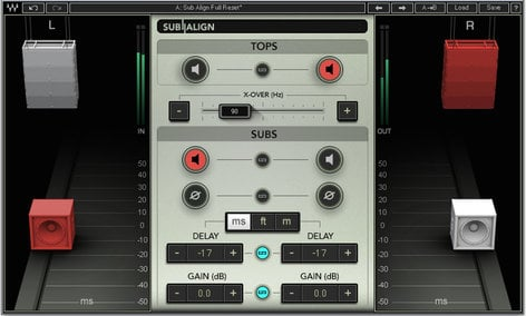 Waves Sub Align Subwoofer Alignment Plugin for PA Systems SUBALN