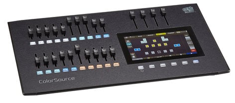 ETC/Elec Theatre Controls CS20 ColorSource 20 Console with 20 Faders and Multi-Touch Display CS20