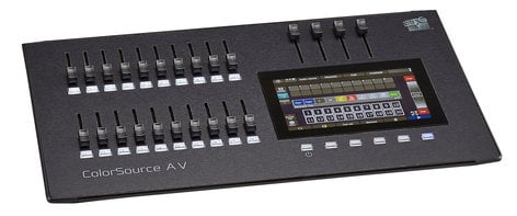 ETC/Elec Theatre Controls ColorSource 20AV 20 Fader Lighting Console with HDMI, Network, and Audio Features CS20AV