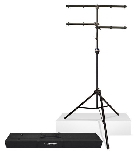 Ultimate Support LT-99BL Multi-tiered Lighting Tree Package with TeleLock Lift-Assist Technology, Leveling Leg & Tote Bag LT99BL