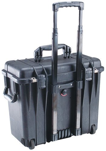 Pelican Cases 1440 Top Loader Case with Padded Office Divider Set and Lid Organizer 1447-BLACK