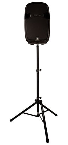 Ultimate Support TS-80B Aluminum Tripod Speaker Stand In Black With Integrated Speaker Adapter TS80B