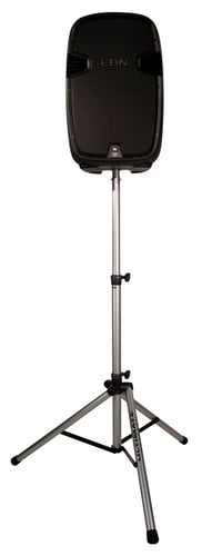 Ultimate Support TS-80S Aluminum Tripod Speaker Stand With Integrated Speaker Adapter, Silver TS80S