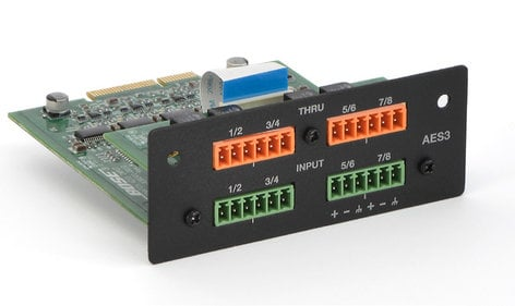 Bose PowerMatch AES3 8-Channel Input Card For PowerMatch Configurable Power Amplifiers 638301-0010