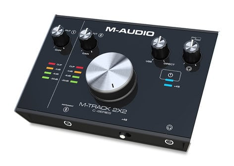 M-Audio M-TRACK-2X2 2-In / 2-Out, 24 / 192 USB Audio Interface, C-Series M-TRACK-2X2
