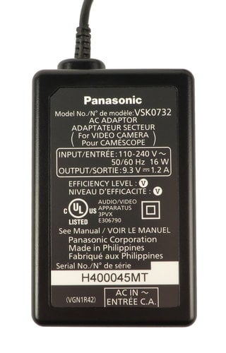 Panasonic VSK0732  AC Adaptor for AG-AC8PJ (Without Cord) VSK0732