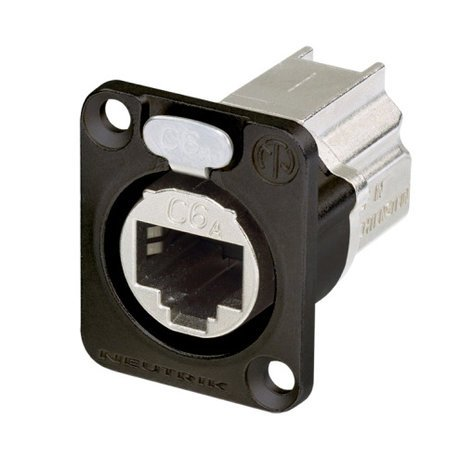 Neutrik NE8FDX-P6-B  CAT6A Shielded Panel Connector with Black Housing NE8FDX-P6-B