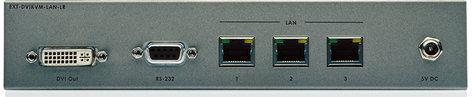 Gefen Inc EXT-DVIKVM-LAN-LRX DVI KVM Over IP with Local DVI Output-Receiver Unit Package EXT-DVIKVM-LAN-LRX