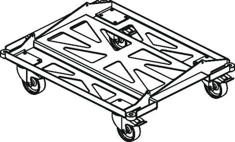 DAS PL-EVENT210S PL-Event 210S Metal Transport Dolly for Event 210A PL-EVENT210S