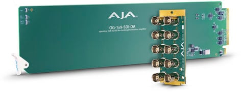 AJA OG-1x9-SDI-DA openGear 1x9 3G-SDI Re-Clocking Distribution Amp OG-1X9-SDI-DA
