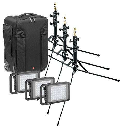 Litepanels LYKOS DAY BUNDLE Lykos Travel Lighting Kit Bundle with Daylight LED Panels, Stands, Bag LYKOSDAYBUNDLE