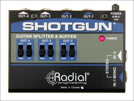 Radial Engineering Shotgun 4-Channel Amp Driver SHOTGUN