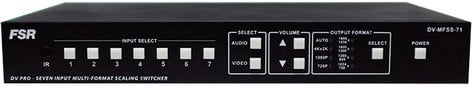 FSR, Inc DV-MFSS-71  7x1 Multi-Format Scaling Switcher DV-MFSS-71