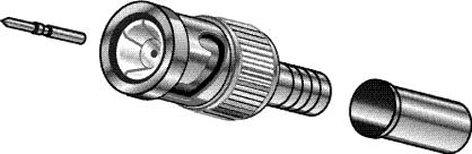 West Penn CN-BM53-25  3-Piece BNC Connector for RG-58 Thinnet Cable CN-BM53-25