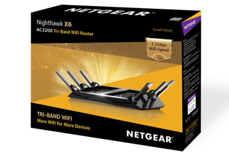 Netgear Nighthawk X6 AC3200 Tri-Band WiFi Gigabit Router R8000-100NAS