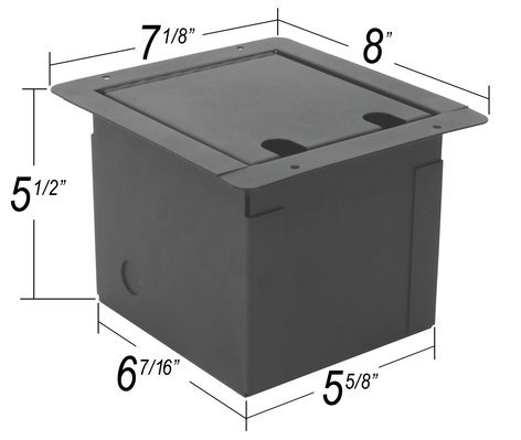 Elite Core FB8-SP  Floor Box With 8 XLRF And 2 Speakons FB8-SP