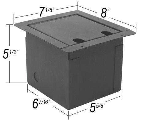 Elite Core Audio FB8-SP  Floor Box With 8 XLRF And 2 Speakons FB8-SP