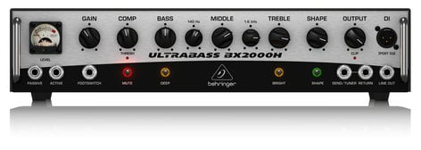 Behringer BX2000H 2000W Bass Amplifier Head BX2000H