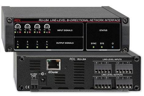 Radio Design Labs RU-LB4 Line-Level, Bi-Directional Network Interface, 4 Balanced Out RU-LB4