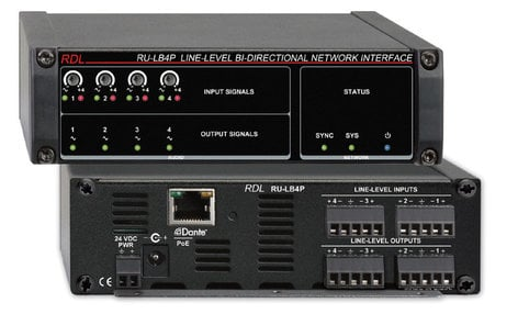 Radio Design Labs RU-LB4P Line-Level Bi-Directional Network Interface RU-LB4P