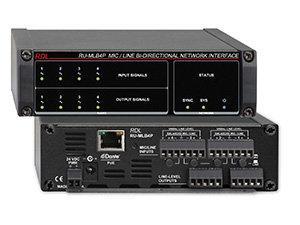 RDL RU-MLB4P  MIc/Line Bi-Directional Network Interface with 4 inputs RU-MLB4P