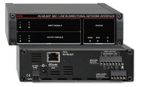 RDL RU-MLB2P  Mic/Line Bi-Directional Network Interface RU-MLB2P