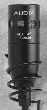 Audix ADX40W-HC Hanging Microphone, Hypercardioid, White (Black, Cardioid version shown) ADX40W-HC