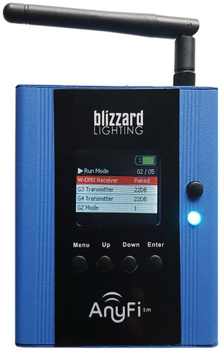 Blizzard Lighting LightCaster AnyFi W-DMX and wiCICLE Transceiver LIGHTCASTER-ANYFI