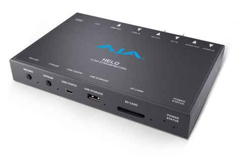AJA Video Systems Inc HELO Stand-Alone Professional H.264 HD/SD Recorder/Streamer HELO