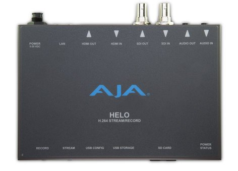 AJA HELO Stand-Alone Professional H.264 HD/SD Recorder/Streamer HELO