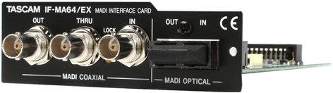 Tascam IF-MA64/EX  64-Chan MADI Optical/Coax/Redundant I/O Card  IF-MA64/EX