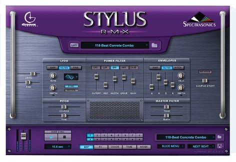 Spectrasonics STYLUS-RMX-XPANDED Stylus RMX Xpanded Software - Virtual  Instrument, Groove Module, Mac/Win, Requires AU, RTAS, Or VST Host Software