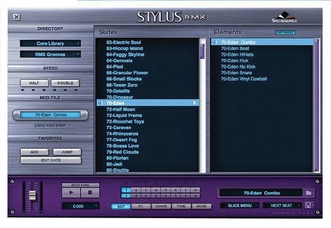 Spectrasonics Stylus RMX Xpanded Software - Virtual Instrument, Groove Module,  Mac/Win, requires AU, RTAS, or VST host software STYLUS-RMX-XPANDED