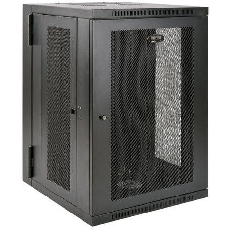 Tripp Lite SRW18USDP  SmartRack 18RU UPS-Depth Wall-Mount Rack Enclosure Cabinet with Hinged Back SRW18USDP