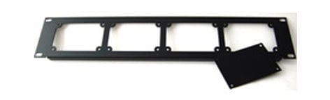 """ETS PA207 19"""" 2RU Rackmount Panel with 3 Blank Plates ETS-PA207"""