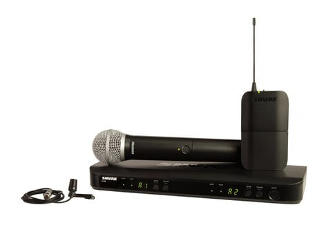 Shure BLX1288/CVL-H9 Dual Combo System with Lavalier and Transmitter BLX1288/CVL-H9