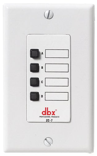 DBX ZC-7-RST-01 ZC-7 [RESTOCK ITEM] Push-to-Talk Page Assignment Controller for ZonePRO Products ZC-7-RST-01