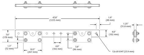 QSC EB2082-i [RESTOCK ITEM] ILA Support Extension Bar in Black Finish EB2082I-BLACK-RST-01