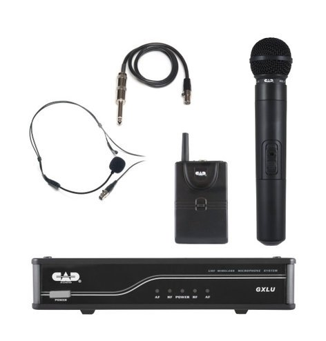 CAD Audio GXLUHBK UHF Wireless Combo System- Handheld and Bodypack Microphone System K Frequency Band GXLUHBK