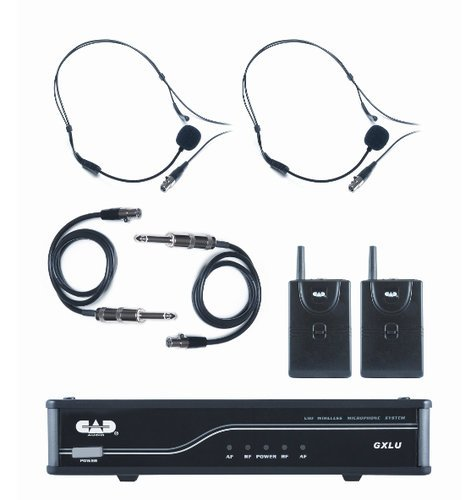 CAD Audio GXLUBBL UHF Wireless Dual Bodypack Microphone System L Frequency Band GXLUBBL