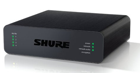 Shure ANI4IN-XLR Audio Network Interface With 4-Channel  MIC/LINE IN, Dante, And Browser-Based Control Software ANI4IN-XLR