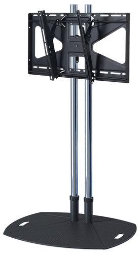 "Premier Mounts TL72-MS2  72"" Chrome Lightweight Floor Stand with Tilt Mount for Large Displays TL72-MS2"
