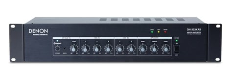 Denon DN-333XAB  3 Mic And 2 Stereo Line Mixer Amp With Bluetooth Receiver DN-333XAB