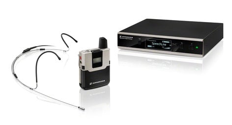 Sennheiser SL HEADMIC SET DW-4-US R Wireless System WithSL Headmic 1 And Rackmount Kit SL-HEADMIC-SETDW4USR