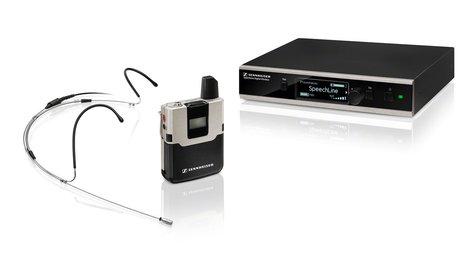 Sennheiser SL HEADMIC SET DW-4-US R Wireless System WithSL Headmic 1 And Rackmount Kit SL-HEADMIC-SETDW4USR