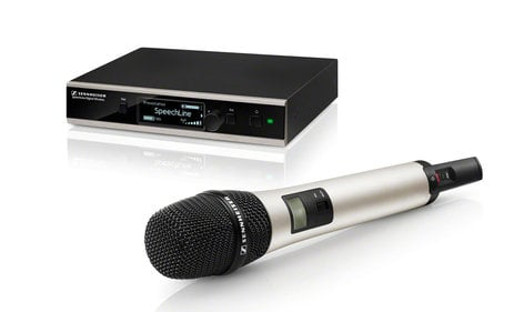 Sennheiser SL HANDHELD SET DW-4-US R Wireless Handheld Microphone System With e865 And With Rackmount SL-HANDHELDSETDW4USR