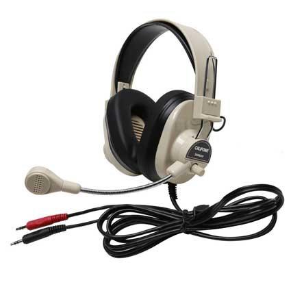Califone International 3066AV-10L Classroom 10-Pack of Deluxe Stereo Headsets 3066AV-10L