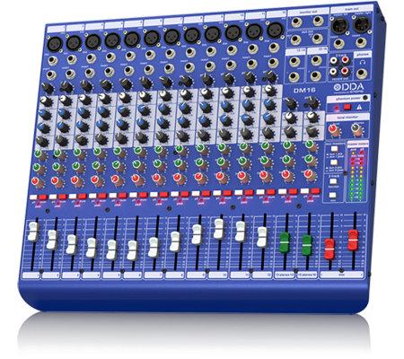 Midas DM16 16 Input Analogue Live And Studio Mixer With MIDAS Mircrophone Preamplifiers DM16