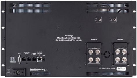 "Marshall Electronics QVW-1708-3G  6RU 17"" 2K/4K 3GSDI Monitor with Quad Viewer QVW-1708-3G"