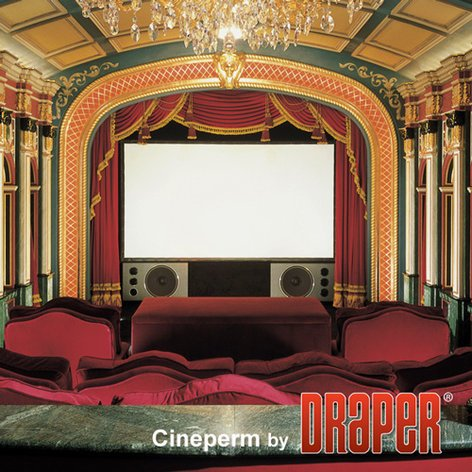 "Draper Shade and Screen 250125 73"" Cineperm HDTV Pure White Projection Screen 250125"